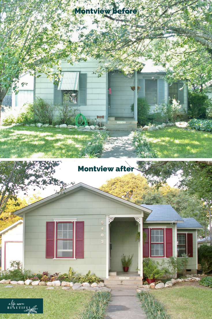 Before & after of remodel of Montview | A Life More Beautiful