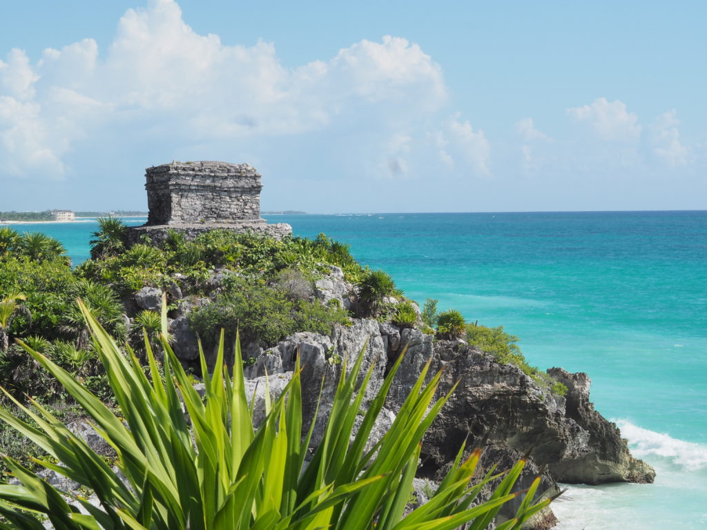 The ruins of Tulum are beautifully situated along the ocean. Photo by A Life More Beautiful
