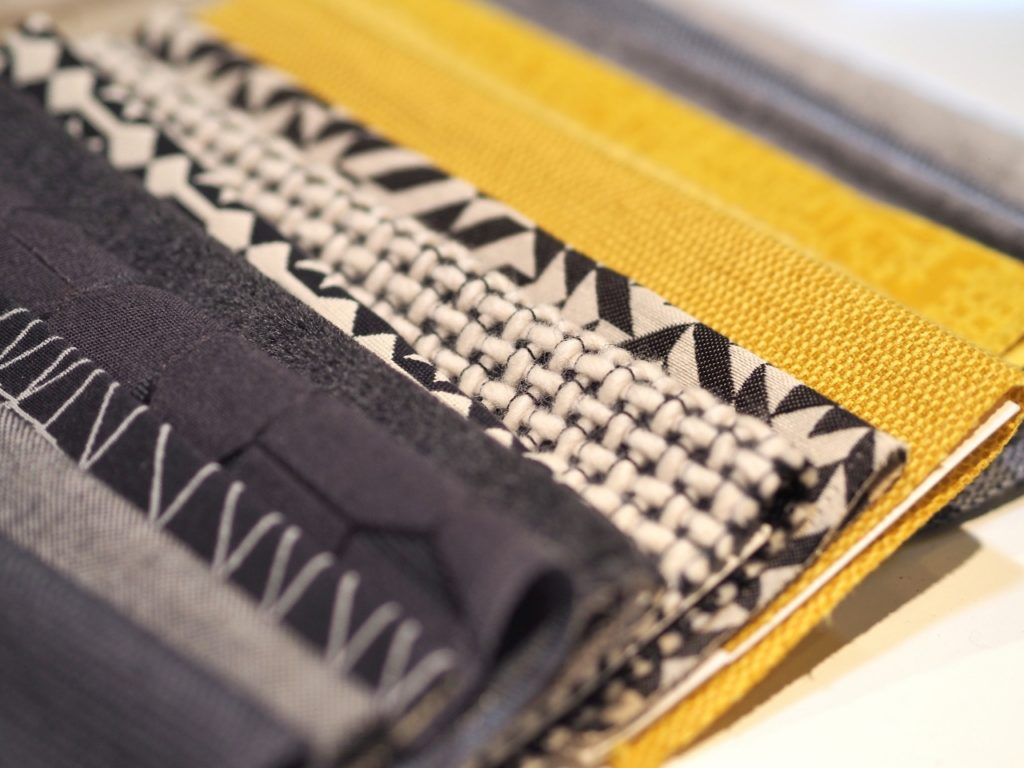 Upholstery fabric selections from a recent project by Austin designer Laura Britt. Photo by A Life More Beautiful