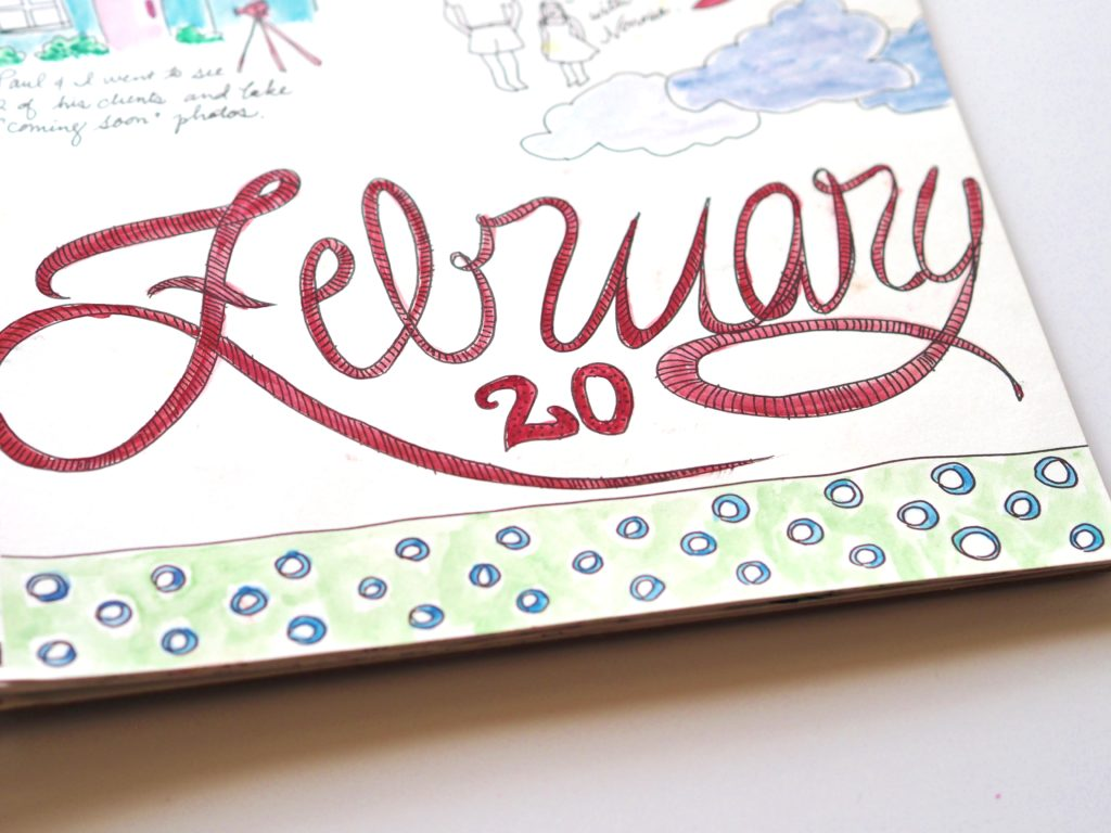 Sneak peak into my February 20th art journal | ALMB