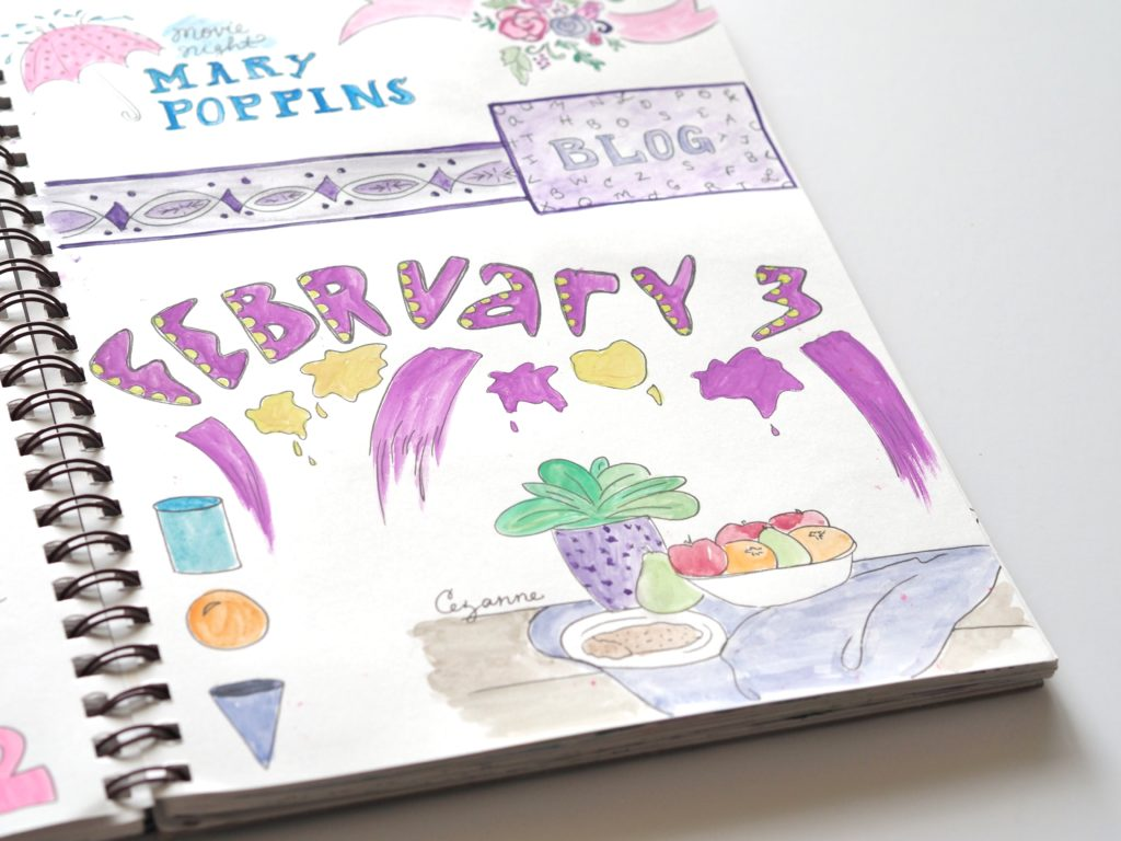 Sneak peak into my February 3rd art journal