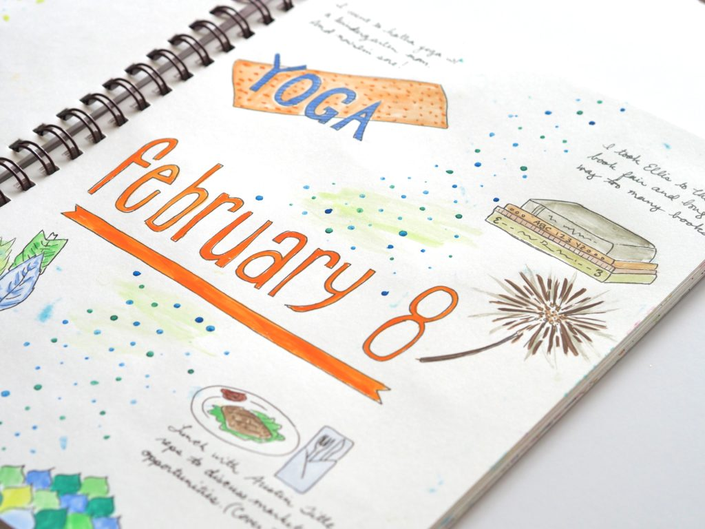 Sneak peak into my February 8th art journal | ALMB