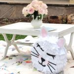 Pinata & floral accentuate the design of a pretty kitty birthday by A Life More Beautiful