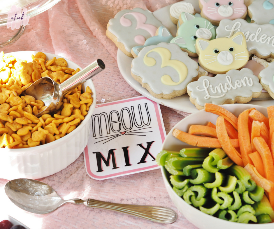 Kids had a choice of healthy snacks aka meow mix. | A Life More Beautiful