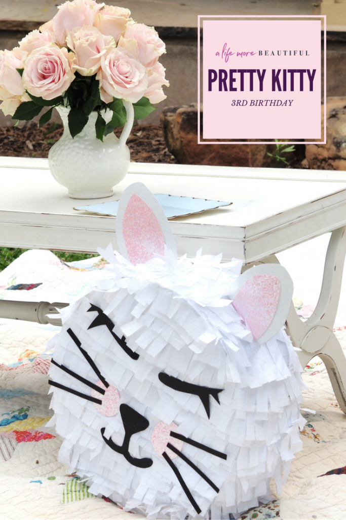 A pretty kitty 3rd birthday party styled by A Life More Beautiful