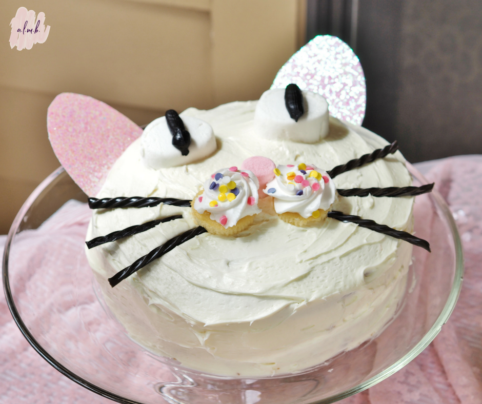 Homemade pretty kitty birthday cake | A Life More Beautiful