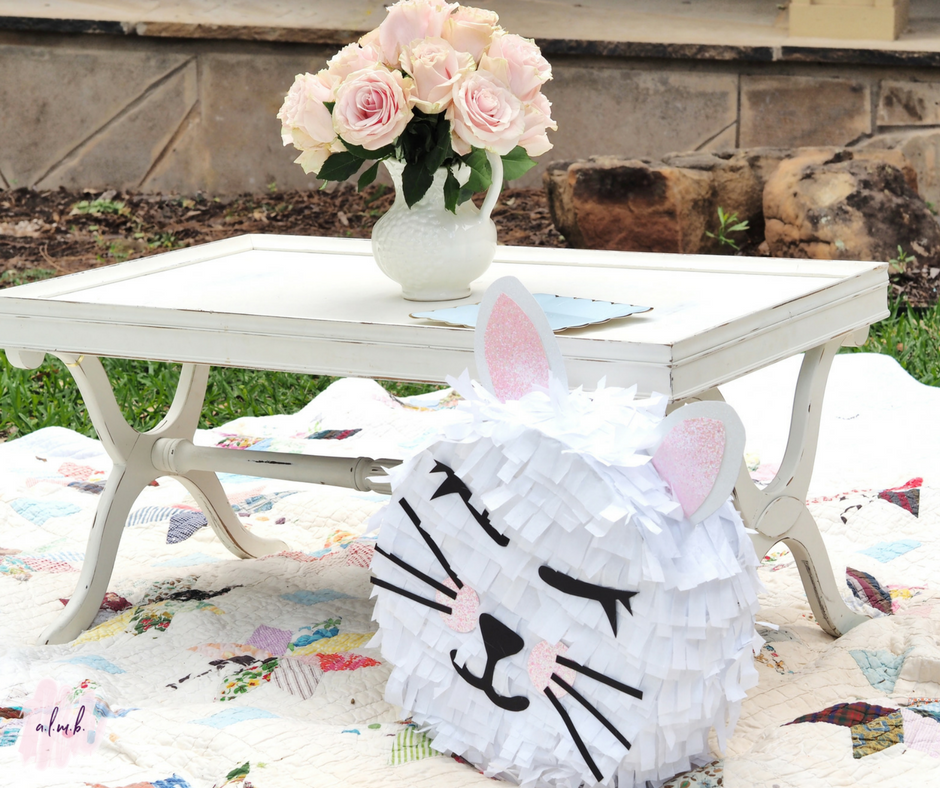 The homemade pretty kitty pinata was both pretty and functional. | A Life More Beautiful