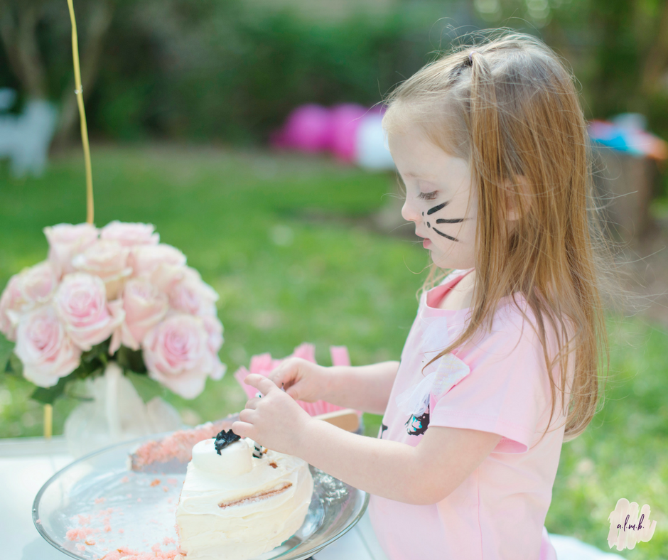 My daughter decided to take the cake serving into her own hands. | A Life More Beautiful