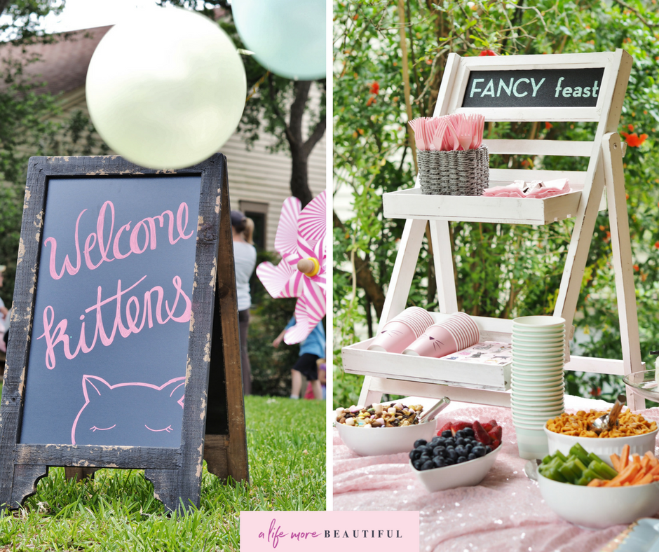 We enhanced the pretty kitty theme with carefully chosen signage. | A Life More Beautiful