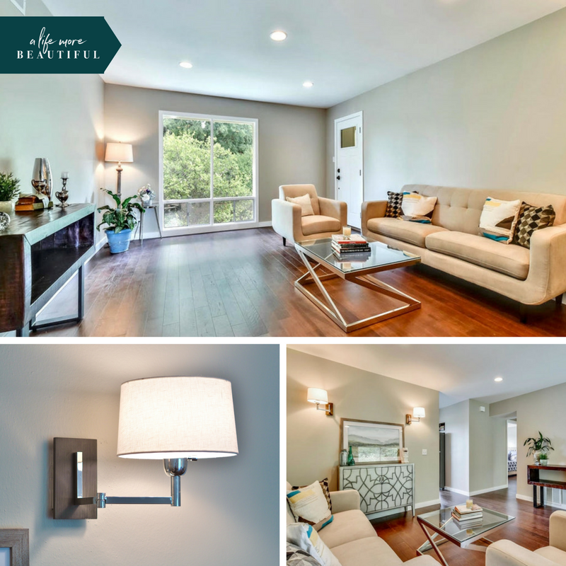 The remodeled living space is light, bright and flexible. | A Life More Beautiful