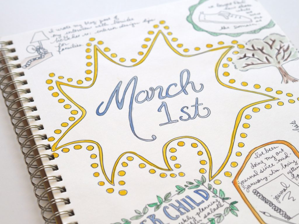 March 1 art doodles by A Life More Beautiful