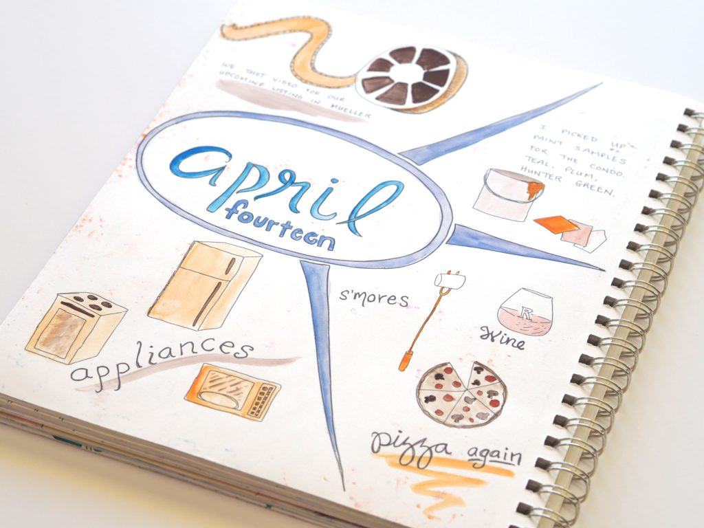 Four months into our daily art journal commitment, and we're loving it. | ALMB