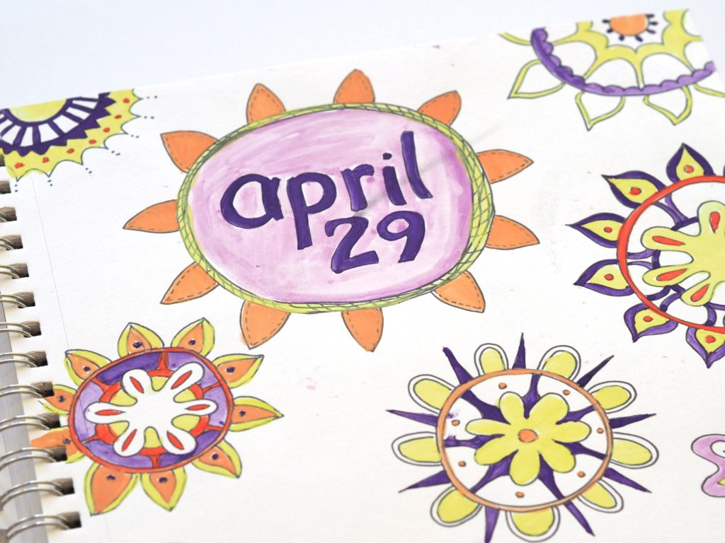 April art journal entries were colorful | ALMB