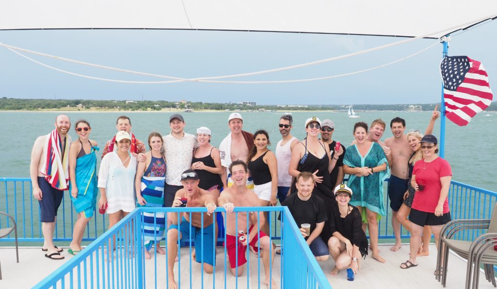Clients aboard the party barge to help rock the boat | A Life More Beautiful