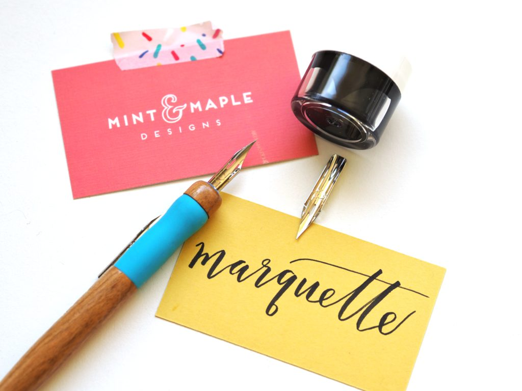 Modern calligraphy class with Mint & Maple | A Life More Beautiful