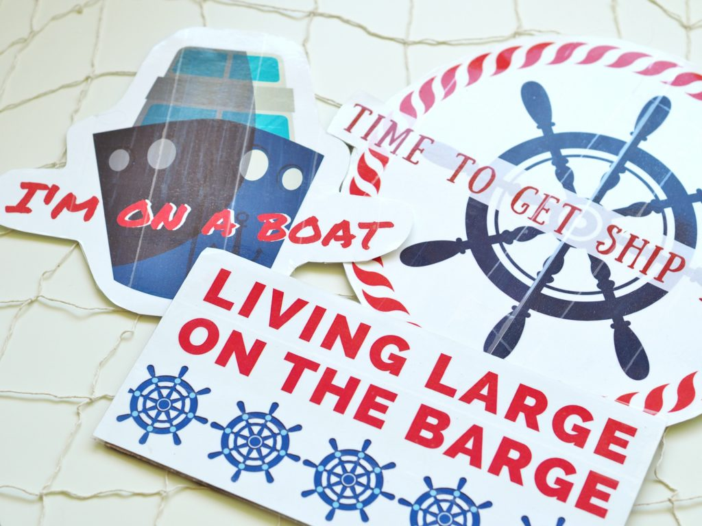Nautical sayings were turned into photo props by A Life More Beautiful
