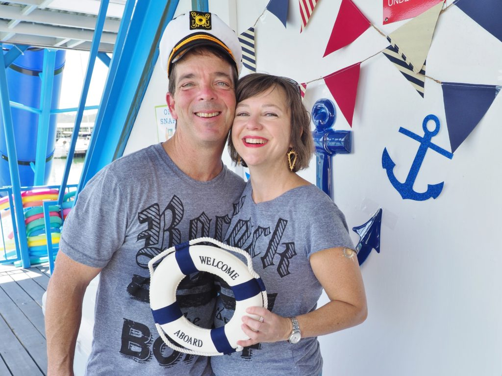 A la Love Boat, my husband and I were the cruise directors for the party. | ALMB