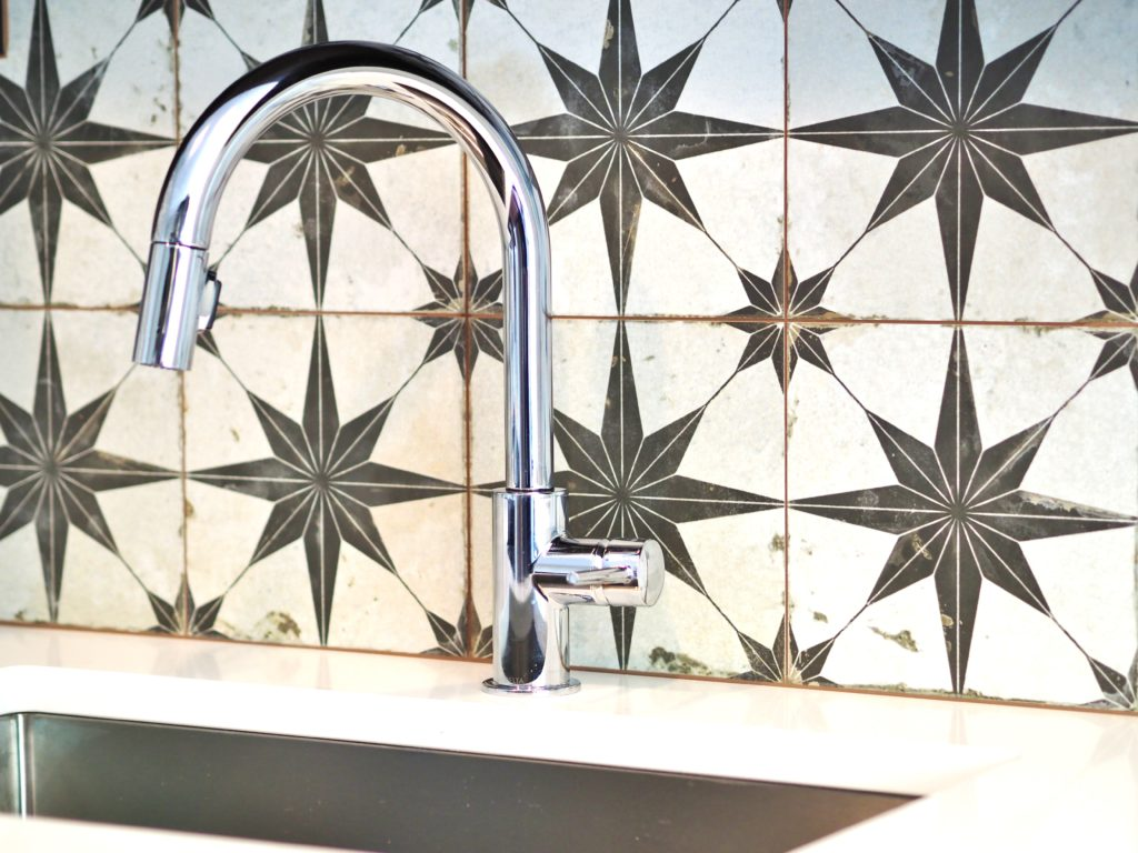 Patterned tile is popular in Central Austin home interiors