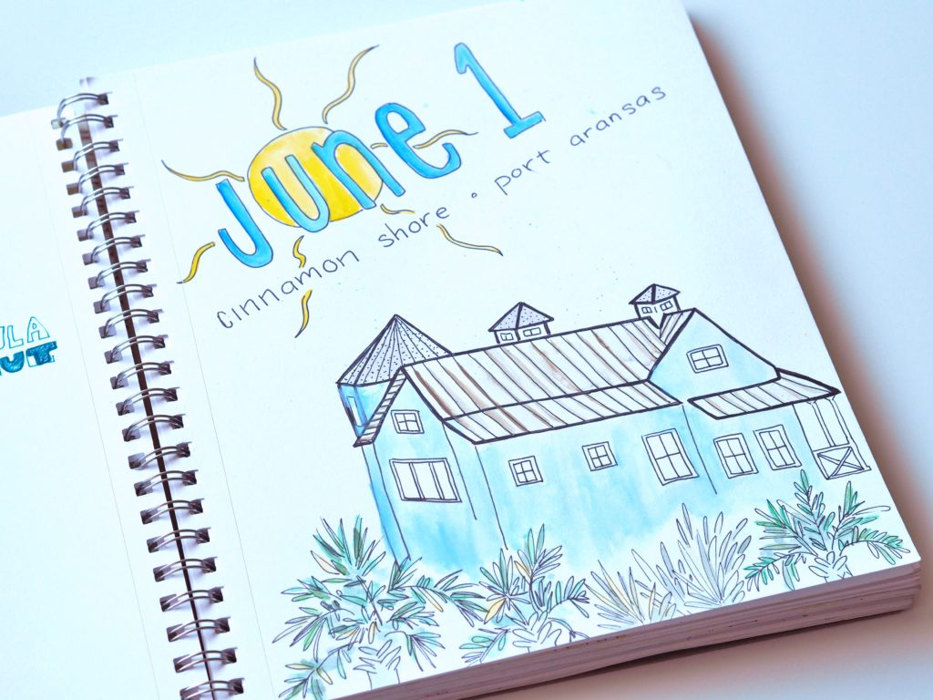 June 2017 art journal by ALMB