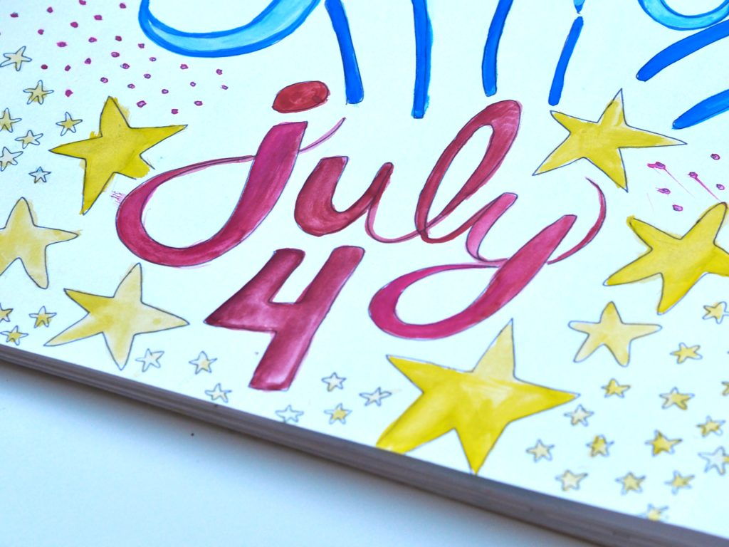 4th of July art journal (ALMB)