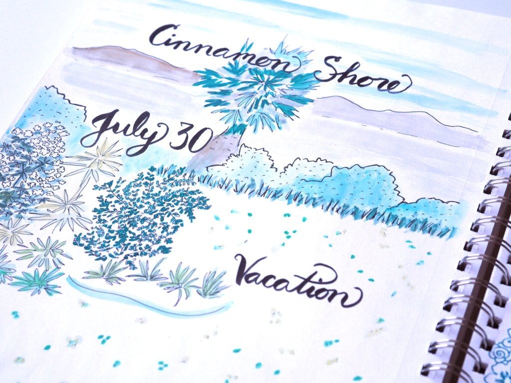 Sketches from our 2nd trip to Cinnamon Shore