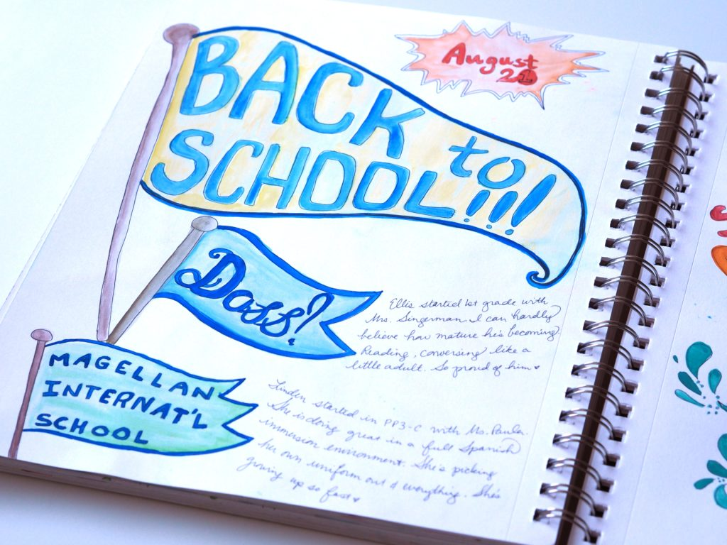 Finally, back to school art journal