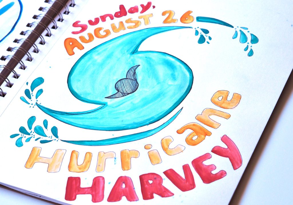 Hurricane art journal by ALMB